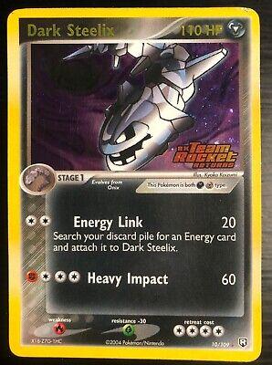 Pokemon Dark Steelix - 10/109 EX Team Rocket Returns 2004 - Holo Rare Stamp NM