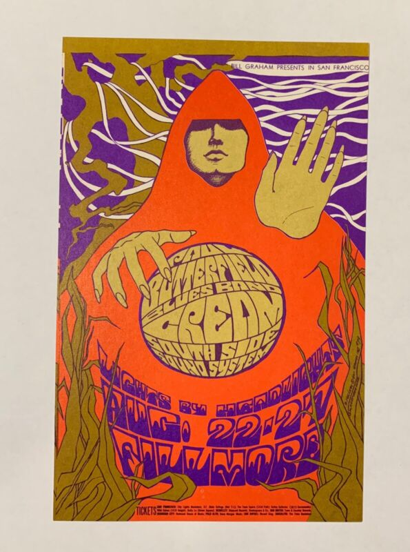 Cream Original 1967 Concert Postcard (Bill Graham-79) Fillmore Auditorium