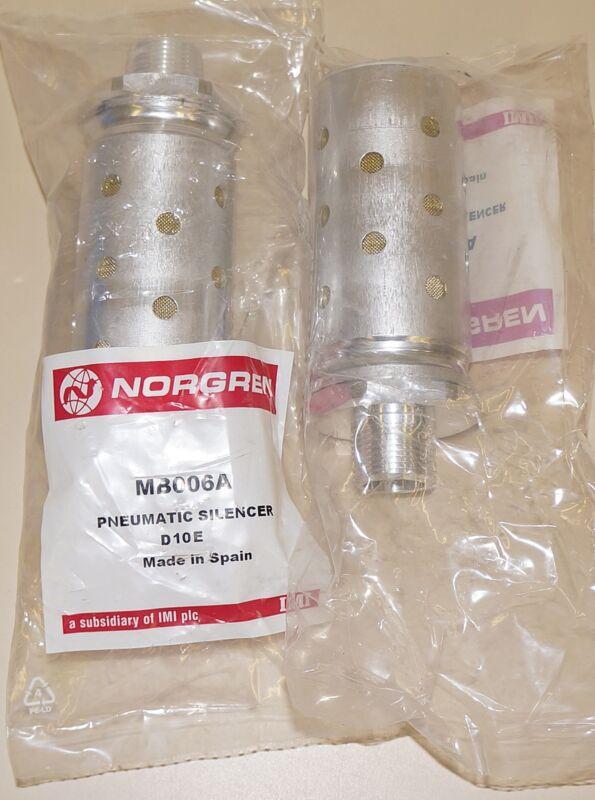 2 PCS NORGREN PNEUMATIC SILENCER MB006A D10E
