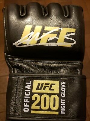 3d5a788e1be AMANDA NUNES SIGNED AUTO D OFFICIAL UFC 200 FIGHT GLOVE BAS COA 232 VS  CYBORG