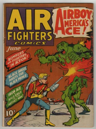 Air Fighters (1941) Vol 1 #9 Violent & bloody Nazi & Japanese WWII Stories VG
