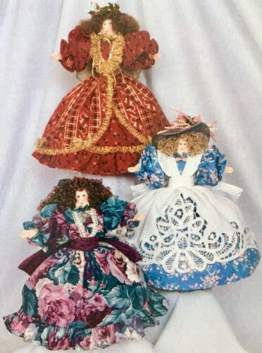Hickory Stick & Co. Cloth Doll Pattern H-168  LOVELY LADIES With Wooden Spoons