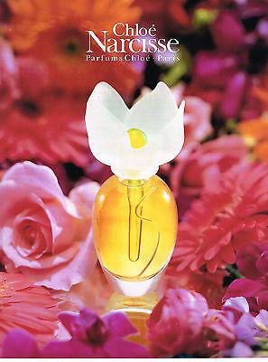 PUBLICITE ADVERTISING 1993 CHLOE parfum NARCISSE