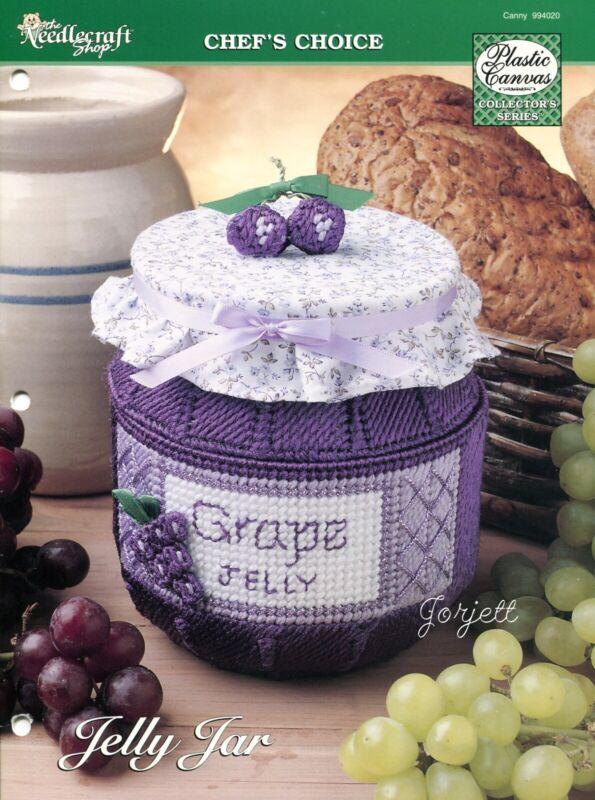 Jelly Jar Box plastic canvas pattern leaflet