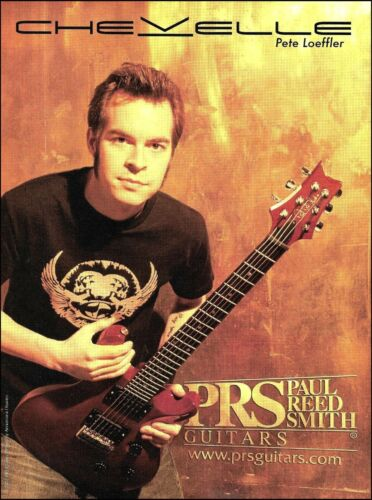 Chevelle Pete Loeffler 2003 PRS electric guitar ad 8 x 11 advertisement print