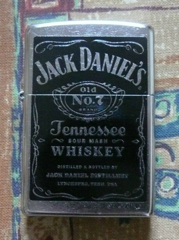 ALCOHOL JACK DANIELS BLACK LABEL ZIPPO LIGHTER FREE P&P FREE FLINTS
