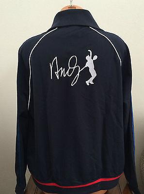 ca69e2596 Lacoste Sport Mens 2XL XXL Black Track Jacket Coat Tennis Andy Roddick  SH5215