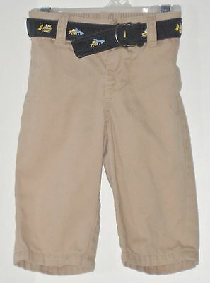 GYMBOREE Boys Size 3-6 Months Brown Snap Closure Belted Pants