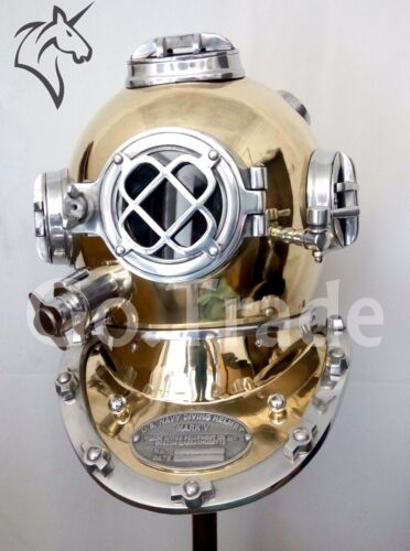 US Navy Vintage Dive Helmet Mark V Antique Diving Divers Marriage GIFT Helmet