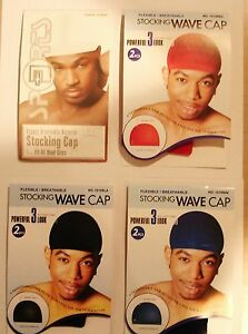 Stocking-Wave-Caps-Hip-Hop-Du-Rag-DooRag-Do-Spandex-Knit-2-Pack