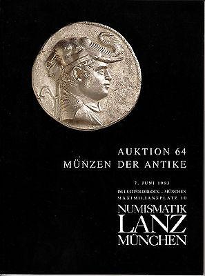 LANZ AUKTION  64 Katalog 1993 Kelten Griechen Römer Byzanz Auswurfmünzen ?64