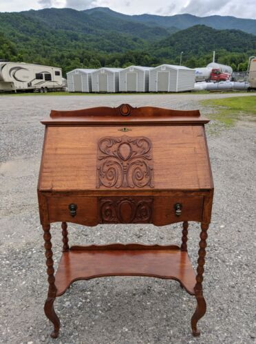 Antique Early American Walnut Drop Front Lady