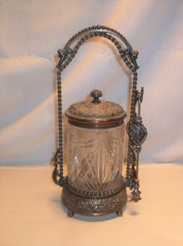 Antique Wilcox Silverplate Pickle Castor Jar