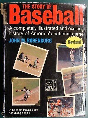 1964 THE STORY OF BASEBALL BY JOHN M. ROSENBURG - RANDOM HOUSE LANDMARK GIANT