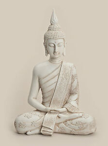 buddha figur wei ebay. Black Bedroom Furniture Sets. Home Design Ideas