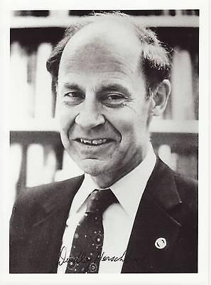 Dudley R. Herschbach Originalautogramm auf Großfoto Nobel Chemie 1986  autograph