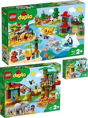 LEGO® DUPLO 10907 10906 10904 Tiere der Welt World Baumhaus Dschungel N6/19
