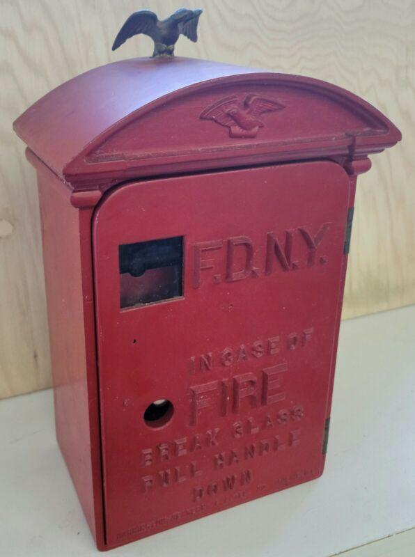 Cast Iron Vintage New York City Fire Dept FDNY Call Box