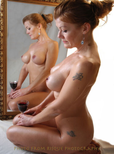 """Nude Woman With Wine 8.5x11"""" Photo Print Naked Female Modern Photography Art"""