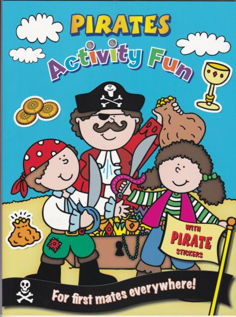 Pirates Activity Book with stickers  - NEW