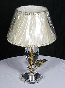 Lume Lampada Da Tavolo Swarovski Cristallo Vetro Oro ...