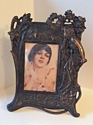 Picture Frame Art Nouveau Cast Iron Early 20th Cntry - Victorian Large Vintage