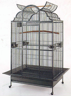 2 Color, New Large Open Dome PlayTop Wrought Iron Parrot Amazon Bird Cage (Open Bird)