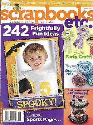 Scrapbooks Etc Magazine Halloween Decor Projects Festive Party Crafts Zipper Pin (Halloween Decor Projects)