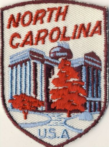 "North Carolina NC State Capitol Building 2.75"" Souvenir Tourist Backpack Patch"