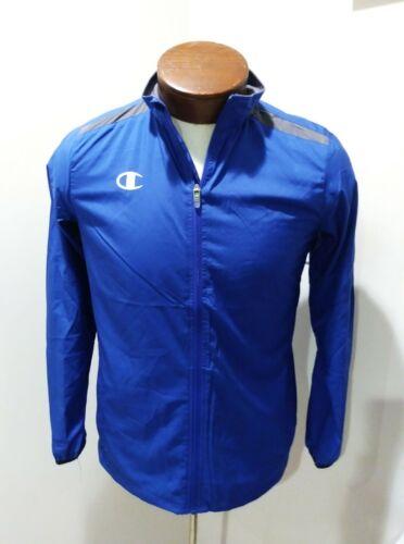 New! Champion Zipdown Windbreaker Jacket Blue - Size Boys Youth Large - YL