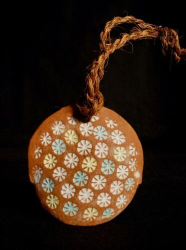 Japanese Old Clay Bell Dorei 1989 : design Flowers: from Nagatoro