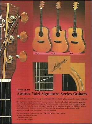 Used, Alvarez Yairi Signature Series DY61 DY62 DY63 acoustic guitar 1986 ad print for sale  Shipping to Ireland