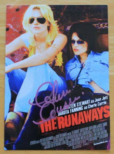 the Runaways Movie Original 2010 5x7 handbill Flyer Signed by Cherie Currie