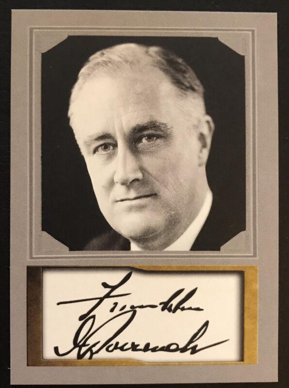 Franklin Roosevelt 2020 President ACEO Portrait D. Gordon Facsimile Auto Card