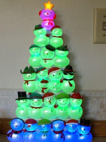 Hallmark 2014 Christmas Concert Snowmen  Lights, Sound (Music) 4 piece set!