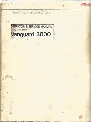 Fmc Vanguard 3000 Street Sweeper Operatorsservice Manual