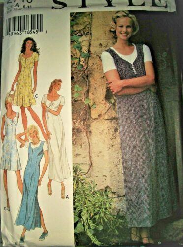 Miss Style 2713 Pattern Sweetheart Bodice Panel Dress UNCUT Size 6-8-10-12-14-16