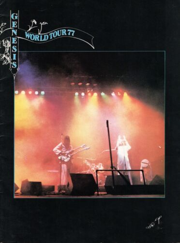 GENESIS 1977 WIND & WUTHERING TOUR CONCERT PROGRAM BOOK BOOKLET PHIL COLLINS