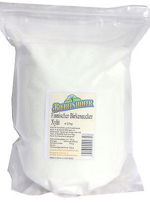 Xylit Xylitol - Finnischer Birkenzucker Premiumqualität aus Holz - 3 kg