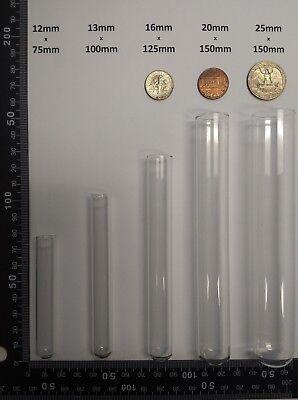 100 Count Borosilicate Glass Culturetest Tubes