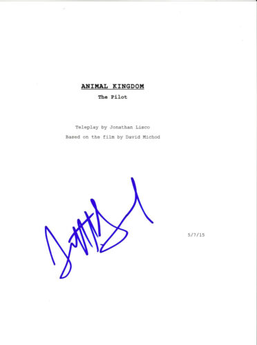 SCOTT SPEEDMAN SIGNED AUTOGRAPHED 'ANIMAL KINGDOM' PILOT EPISODE SCRIPT w/COA
