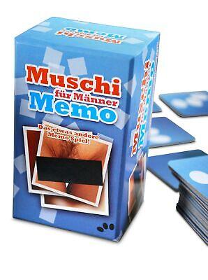 Muschi Memo - Memory Spiel für Erwachsene