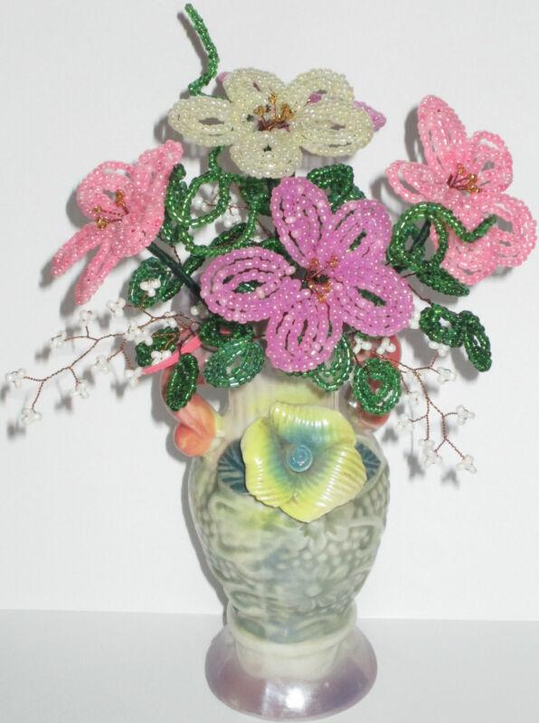 French Beaded Flowers Handmade