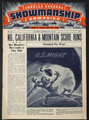 "1945 LA ""SHOWMANSHIP"" (5-16) MOVIE THEATER MAGAZINE - WWII 7TH WAR LOAN, BOGART"