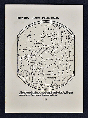 1903 Gall Star Maps x 2 - South Polar Stars Octans Apus Toucan Constellations