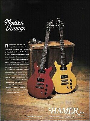 Hamer Special Guitars 1992 Modern Vintage guitar ad 8 x 11 advertisement print A
