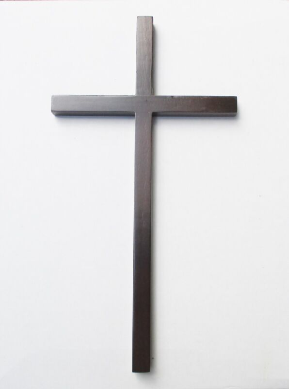 Plain, Simple and Elegant 12 Inch Wood Wall Cross for Church or Home