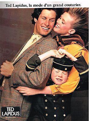 Publicité advertising 1981 pret à porter costume homme ted lapidus