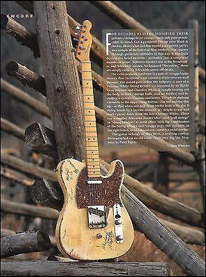 Fender 1951 Nocaster vintage guitar 1991 article Telecaster prototype