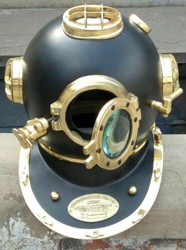 Antique Maritime Boston Morse Diving Helmet Grey Scuba Divers Navy Mark Divers